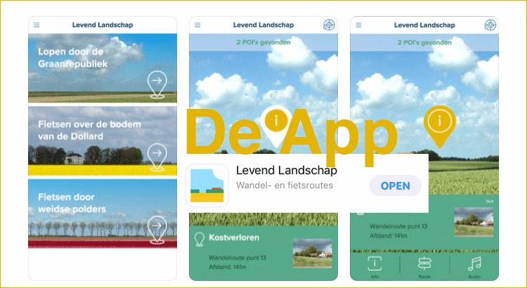 Levend landschap de app